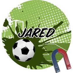 Soccer Round Fridge Magnet (Personalized)