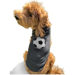 Soccer Black Pet Shirt - XL (Personalized)