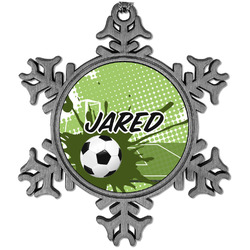 Soccer Vintage Snowflake Ornament (Personalized)
