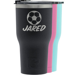 Soccer RTIC Tumbler - Black (Personalized)