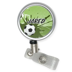 Soccer Retractable Badge Reel (Personalized)