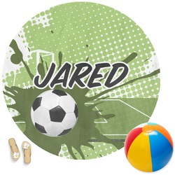 Soccer Round Beach Towel (Personalized)