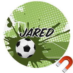 Soccer Round Car Magnet (Personalized)