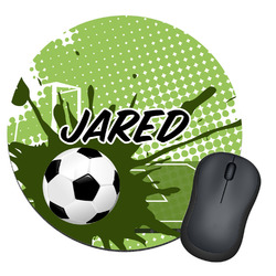 Soccer Round Mouse Pad (Personalized)