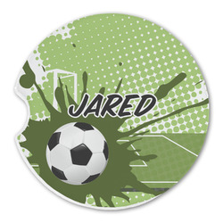 Soccer Sandstone Car Coasters (Personalized)