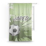 Soccer Sheer Curtains (Personalized)