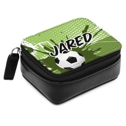 Soccer Small Leatherette Travel Pill Case (Personalized)