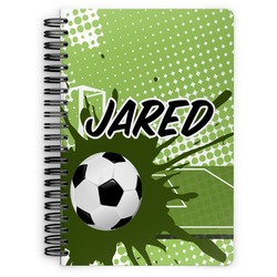 Soccer Spiral Bound Notebook (Personalized)