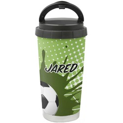 Soccer Stainless Steel Travel Mug (Personalized)