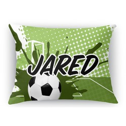 Soccer Rectangular Throw Pillow Case (Personalized)