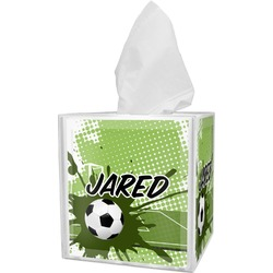 Soccer Tissue Box Cover (Personalized)