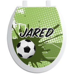 Soccer Toilet Seat Decal (Personalized)