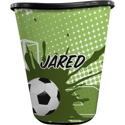 Soccer Waste Basket - Double Sided (Black) (Personalized)