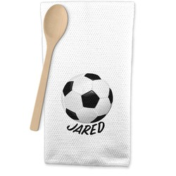 Soccer Waffle Weave Kitchen Towel (Personalized)