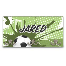 Soccer Wall Mounted Coat Rack (Personalized)