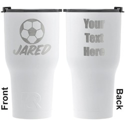 Soccer RTIC Tumbler - White - Engraved Front & Back (Personalized)