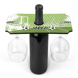Soccer Wine Bottle & Glass Holder (Personalized)