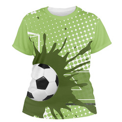 Soccer Women's Crew T-Shirt (Personalized)