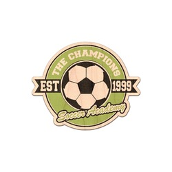 Soccer Genuine Wood Sticker (Personalized)