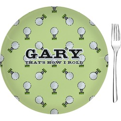 """Golf Glass Appetizer / Dessert Plates 8"""" - Single or Set (Personalized)"""