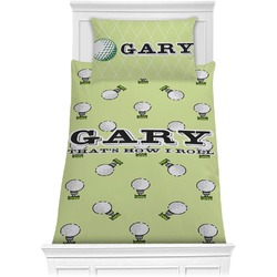 Golf Comforter Set - Twin XL (Personalized)