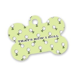 Golf Bone Shaped Dog Tag (Personalized)
