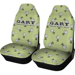 Golf Car Seat Covers (Set of Two) (Personalized)
