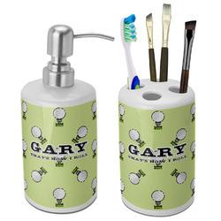 Golf Bathroom Accessories Set (Ceramic) (Personalized)