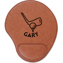 Golf Leatherette Mouse Pad with Wrist Support (Personalized)