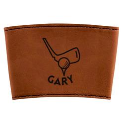 Golf Leatherette Mug Sleeve (Personalized)