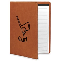Golf Leatherette Portfolio with Notepad (Personalized)