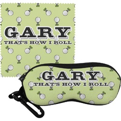 Golf Eyeglass Case & Cloth (Personalized)