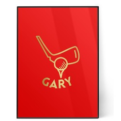 Golf 5x7 Red Foil Print (Personalized)