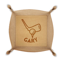 Golf Genuine Leather Valet Tray (Personalized)
