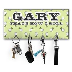 Golf Key Hanger w/ 4 Hooks w/ Name or Text