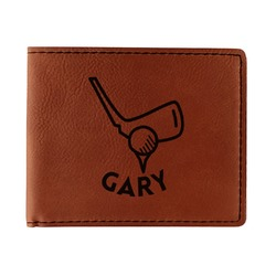 Golf Leatherette Bifold Wallet - Single Sided (Personalized)