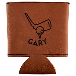 Golf Leatherette Can Sleeve (Personalized)