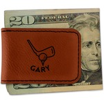 Golf Leatherette Magnetic Money Clip (Personalized)