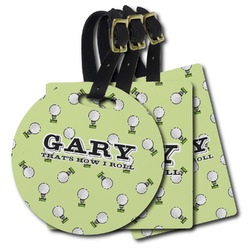 Golf Plastic Luggage Tags (Personalized)