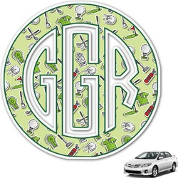 Golf Monogram Car Decal (Personalized)