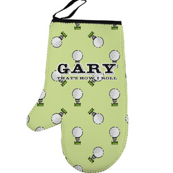 Golf Left Oven Mitt (Personalized)