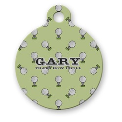 Golf Round Pet Tag (Personalized)