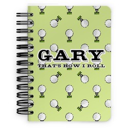 Golf Spiral Bound Notebook - 5x7 (Personalized)