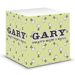 Golf Sticky Note Cube (Personalized)