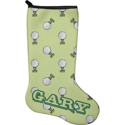 Golf Christmas Stocking - Single-Sided - Neoprene (Personalized)