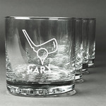 Golf Whiskey Glasses (Set of 4) (Personalized)