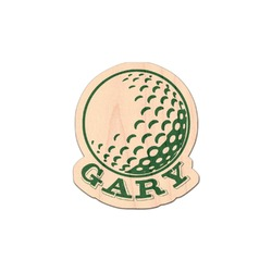 Golf Genuine Maple or Cherry Wood Sticker (Personalized)