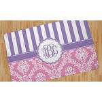Pink & Purple Damask Area Rug (Personalized)