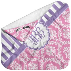 Pink & Purple Damask Baby Hooded Towel (Personalized)