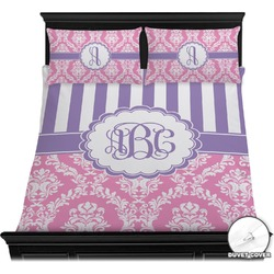 Pink & Purple Damask Duvet Covers (Personalized)